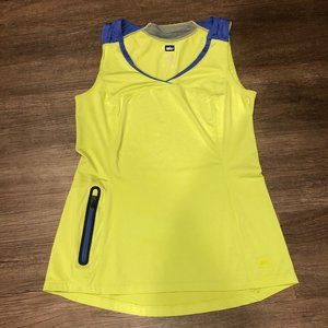 Lime Green REI fitted exercise workout tank top XS